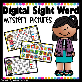Digital Sight Words Mystery Pictures
