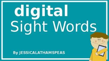 Digital Sight Words (PPT or Google Slides)