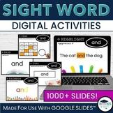 Digital Sight Words - Practice Activities for Google Slide