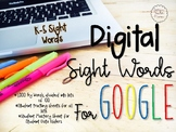 Digital Sight Words for Google