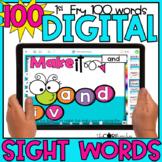 Digital Sight Words Fry's 1-100 | for Google Slides & Sees