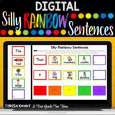 Digital Silly Rainbow Sentences for Google Classroom™ | Distance Learning