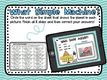 Digital Simple Machines Review and Assessment