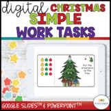 Digital Simple Task Boxes for Christmas Independent Work Systems