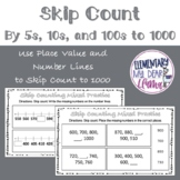 Digital Skip Counting by 5s, 10s, and 100s to 1000