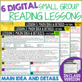 Online Small Group Reading Lessons: MAIN IDEA AND DETAILS