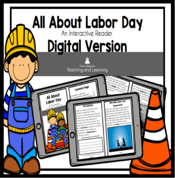 All About Labor Day Interactive Reader Digital Version