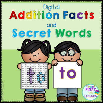 """Digital Solving Addition Facts And Secret Words On The Number Grid: """"TO"""""""