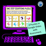 Digital Solving One Step Equations Puzzle Set--Distance Learning
