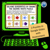 Digital Solving Quadratics by Taking Square Roots Puzzle S