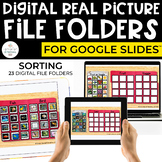Digital Sorting File Folders for Special Ed (REAL PICTURES