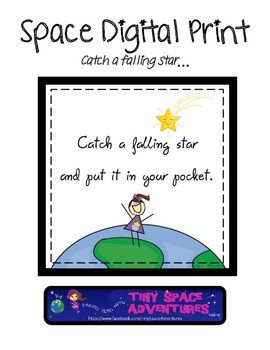 Space Digital Print: Catch a Falling Star & Put it in your Pocket