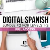 Digital Spanish Curriculum BUNDLE 2: Spanish 1-2