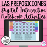 Digital Spanish Interactive Activity:  Las Preposiciones (for Google Drive)