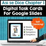 Spanish Characteristics Digital Self Checking Task Cards f
