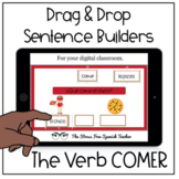 Digital Spanish Sentence Structure Practice COMER Drag and