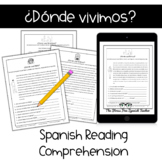 Digital Spanish Reading Comprehension Practice, Houses & Homes