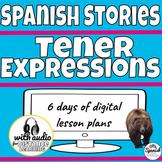 Digital Spanish lesson plans:  Tener expressions (distance