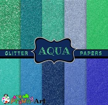 Digital Sparkly Glitter Paper Set