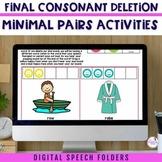 Digital Speech Folder Final Consonant Deletion Minimal Pairs