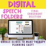 Digital Speech Folder Final Consonant Deletion Minimal Pairs