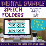 Digital Speech Folder for Later Developing Sounds BUNDLE