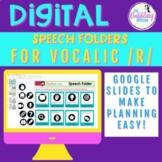 Digital Speech Folder for Vocalic /r/