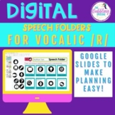 Digital Speech Folder for Vocalic /r/