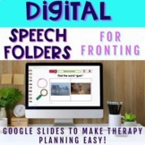 Digital Speech Folders for Fronting - Distance Learning Resource