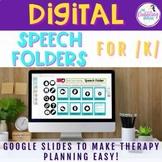 Digital Speech Folders for /k/