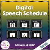 Digital Speech Schedule
