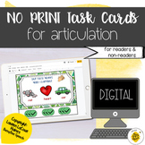 Digital Speech Therapy Task Cards for Articulation