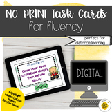 Digital Speech Therapy Task Cards for Fluency | Stuttering
