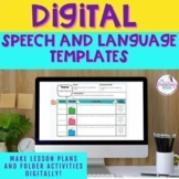 Digital Speech and Language Templates - Google Slides™