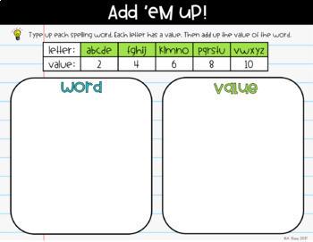 Digital Spelling Activities