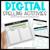 Digital Spelling and Word Work Activities