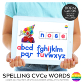 Digital Spelling CVCe BOOM Cards Pack   Distance Learning