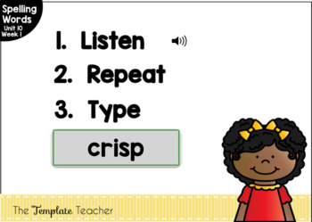 Digital Spelling Practice with BOOM Cards Level 1 Unit 10