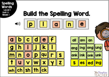 Digital Spelling Practice with BOOM Cards Level 1 Unit 11