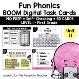 Digital Spelling Practice with BOOM Cards Level 1 Unit 11 - Distance Learning