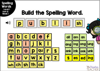 Digital Spelling Practice with BOOM Cards Level 1 Unit 12