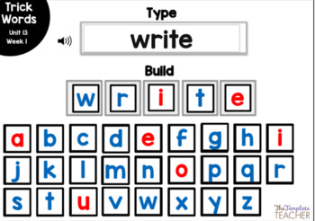 Digital Spelling Practice with BOOM Cards Level 1 Unit 13