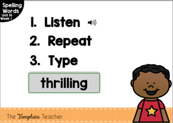 Digital Spelling Practice with BOOM Cards Level 1 Unit 14
