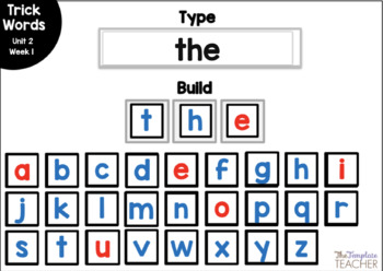 Digital Spelling Practice with BOOM Cards Level 1 Unit 2