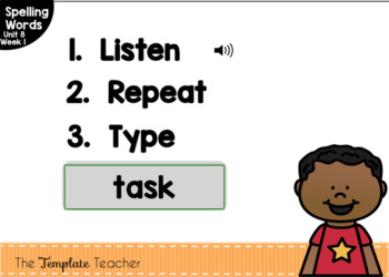 Digital Spelling Practice with BOOM Cards Level 1 Unit 8