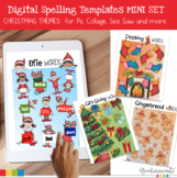 Digital Spelling Word Practice Templates Mini Set Christmas Themed