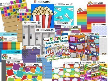 Digital Spelling Word Practice Templates for Pic Collage