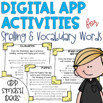 Digital Spelling and Vocabulary Activities {Free Updates for Life}
