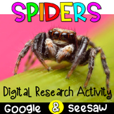 Digital Spider Research Activities | Spider Reading Passages