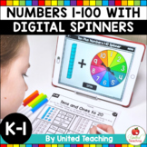 Digital Spinner Math Activities for Numbers 1-100 (Distanc
